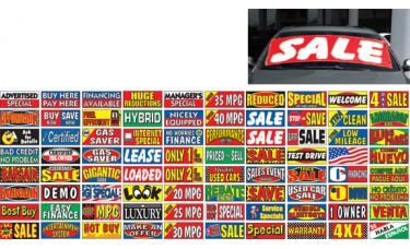 Economical Windshield Banners