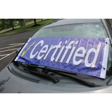 Certified Blue Check Windshield Banner *Clearance*