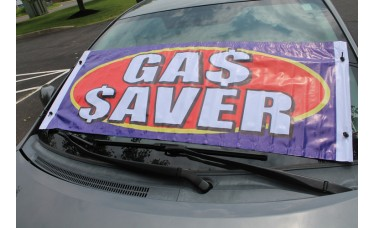 Gas Saver Windshield Banner *Clearance*