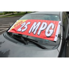 Over 25 MPG Windshield Banner *Clearance*
