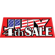 July 4th Sale Windshield Banner