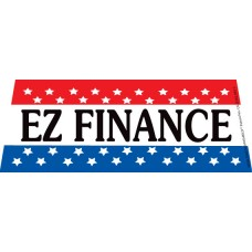 EZ Finance Patriotic Windshield Banner