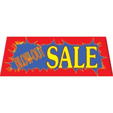 Blow-Out Sale Windshield Banner