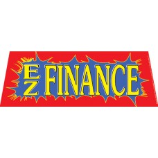 EZ Finance Red/Blue Windshield Banner