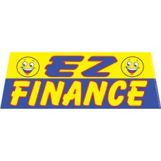 EZ Finance Blue/Yellow Windshield Banner