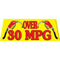 Over 30MPG Yellow/Red Windshield Banner