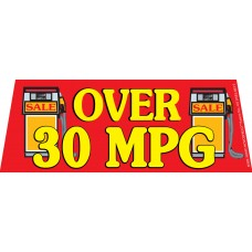 Over 30MPG Red/Yellow Windshield Banner