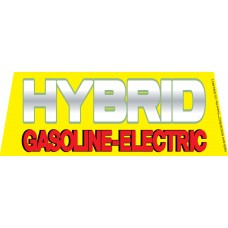 Hybrid Gasoline-Electric Windshield Banner