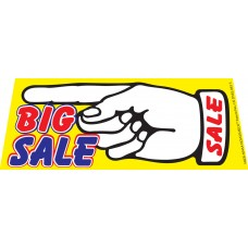 Big Sale Left Finger Point Windshield Banner