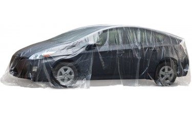 Slip-N-Grip® Disposable Plastic Car Covers (Roll of 30)