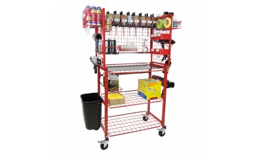 Innovative Mobile Adhesive Materials Supply Cart