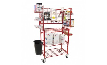 Innovative Mobile Painters Materials Prep Supply Cart