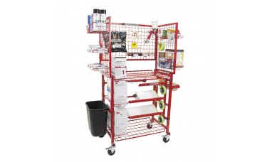 Innovative Mobile Painters Prep Supply Cart w/Masker