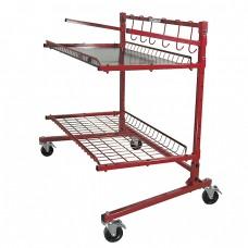 Innovative Parts Cart-A 2-Shelf Mobile Storage Rack