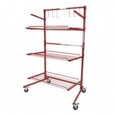 Innovative Parts Cart-B 3-Shelf Mobile Storage Rack