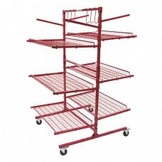 Innovative Parts Cart-C 6-Shelf Mobile Storage Rack