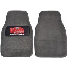 Premium Carpet Car Mats With Custom Colored Heel Pad (2-Piece Set)