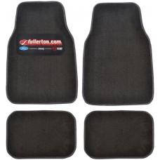 Premium Carpet Car Mats With Custom Colored Heel Pad (4-Piece Set)