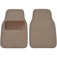 Premium Carpet Car Mats With Custom Embossed Heel Pad (2-Piece Set)