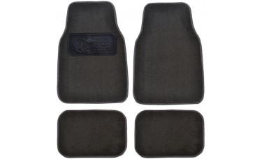 Premium Carpet Car Mats With Custom Embossed Heel Pad (4-Piece Set)