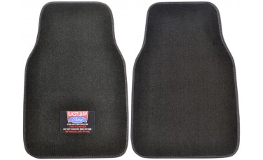 Premium Carpet Car Mats With Custom Embroidered Patch (2-Piece Set)