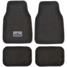 Premium Carpet Car Mats With Custom Embroidered Patch (4-Piece Set)