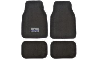 Premium Carpet Car Mats With Custom Embroidered Patch (4-Piece Set)