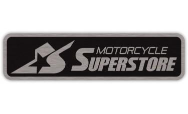Motorcycle Dealer Identification Decals - Brushed Chrome Vinyl