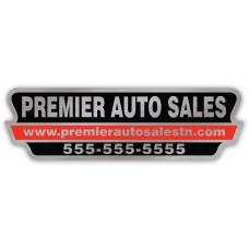 Full Color Digital Car Dealer Decals - Brushed Chrome