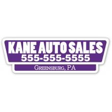 Screen Printed Car Dealer Decals - White