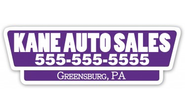 Screen Printed Car Dealer Decals - White