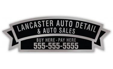 Screen Printed Car Dealer Decals - Brushed Chrome