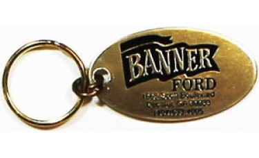Aluminum Keychains - Gold Oval