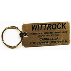 Aluminum Keychains - Gold Rectangle