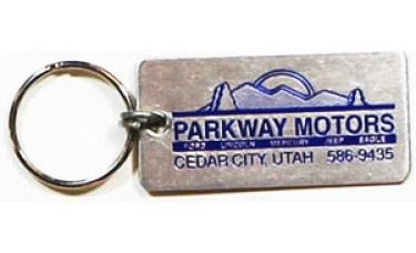 Aluminum Keychains - Silver Rectangle