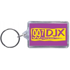 Clear Acrylic Keychains - Rectangle