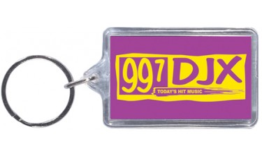 Spot Color Clear Acrylic Keychains - Rectangle