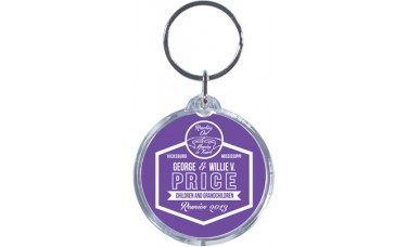 Spot Color Clear Acrylic Keychains - Circle