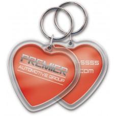 Full Color Digital Clear Acrylic Keychains - Heart