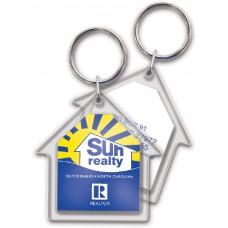 Full Color Digital Clear Acrylic Keychains - House