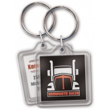 Full Color Digital Clear Acrylic Keychains - Square