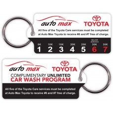 Customer Loyalty Poly Laminate Punchable Key Tags - Rectangle with Tab