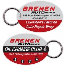 Customer Loyalty Poly Laminate Punchable Key Tags - Round Oval