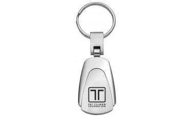 Prestige Teardrop Two-Toned Metal Key Chains