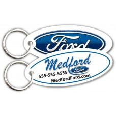 Customer Loyalty Polyethylene Punchable Key Tags - Ford Oval