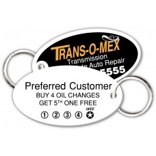 Customer Loyalty Punchable Key Tags - Oval
