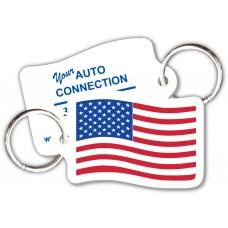Customer Loyalty Punchable Key Tags - Flag-Shape