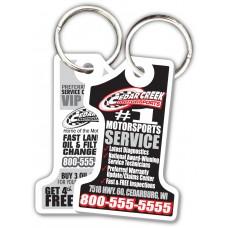 Customer Loyalty Punchable Key Tags - #1