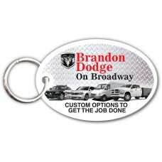 Customer Loyalty Punchable Key Tags - Round Oval