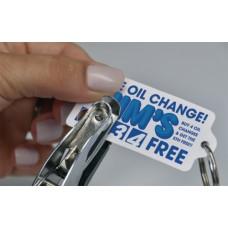 Customer Loyalty Polyethylene Punchable Key Tags - Rectangle with Tab
